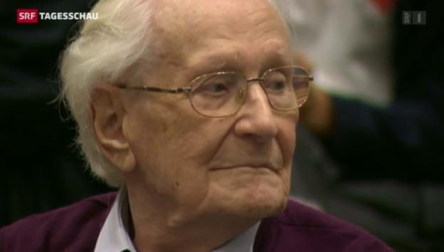 Video «Früherer SS-Mann Oskar Gröning verurteilt» abspielen