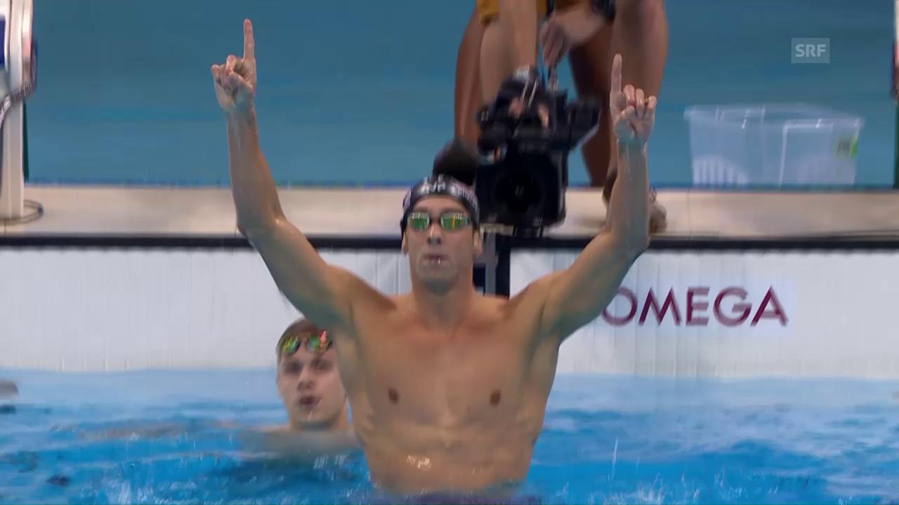 Phelps triumphiert über 200m Delfin