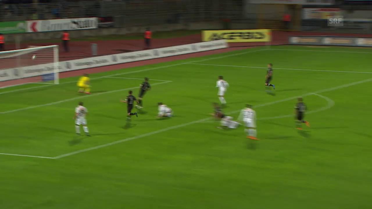 Fussball: SL, Lugano - YB, das Tor von Milan Gajic