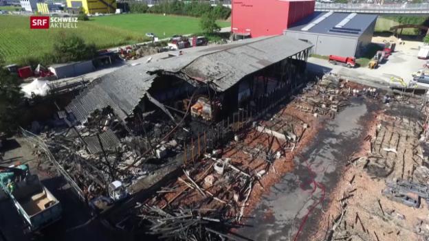 Video «Industrie-Denkmal bei Grossbrand gerettet» abspielen