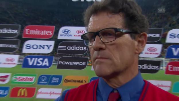 Video «Der Frust von Russlands Trainer Fabio Capelli» abspielen