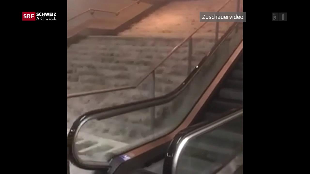 Überschwemmungen in der Westschweiz