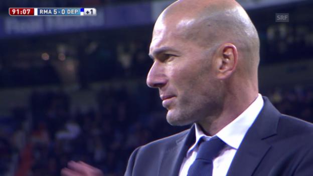Video «Traum-Debüt für Neo-Coach Zidane bei Real» abspielen