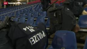 Video «Länderspiel wegen Attentat-Verdacht abgesagt» abspielen