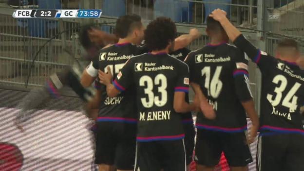 Video «Fussball: Super League, Basel - GC, 2:2 FCB» abspielen