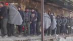 Video «Frierende Flüchtlinge» abspielen