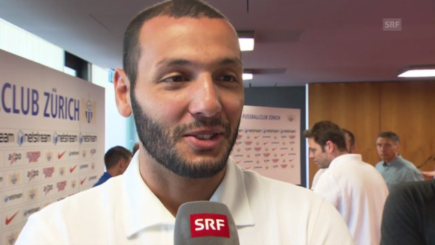 Video «Fussball: Yassine Chikaoui zum Derby gegen GC» abspielen