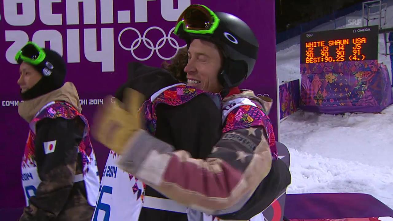 Snowboard Halfpipe: 2. Final-Run von Shaun White (sotschi direkt, 11.02.2014)