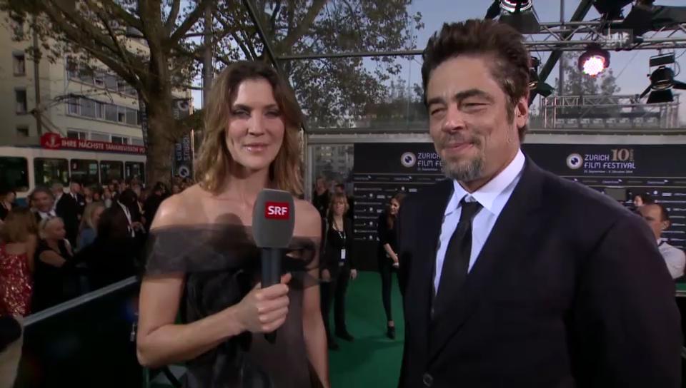 Benicio del Toro im Gespräch mit Annina Frey