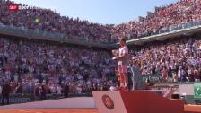 Video «Tennis: French Open in Paris, Final Männer» abspielen