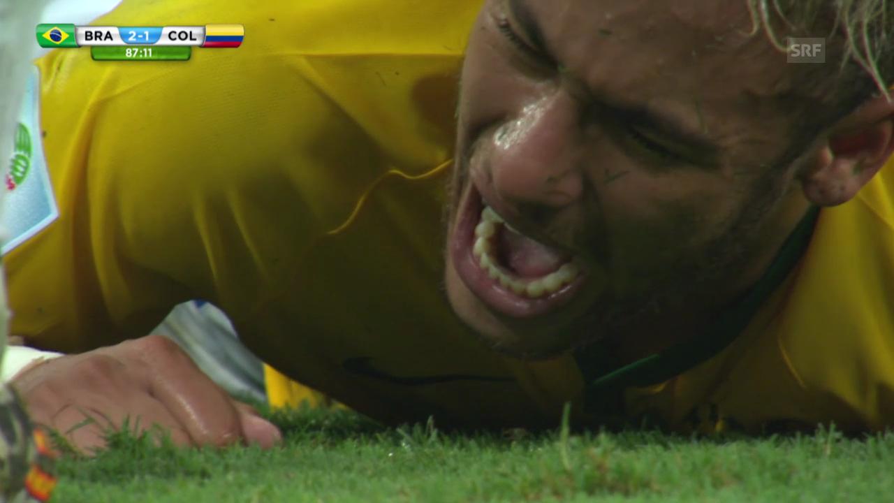 FIFA WM 2014: Das Foul an Neymar