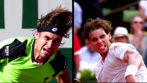 Video «Tennis: Vorschau French Open Final Nadal - Ferrer» abspielen