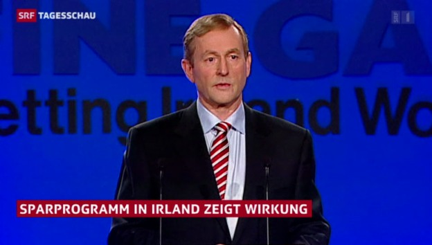 Video «Irisches Sparprogramm zeigt Wirkung» abspielen