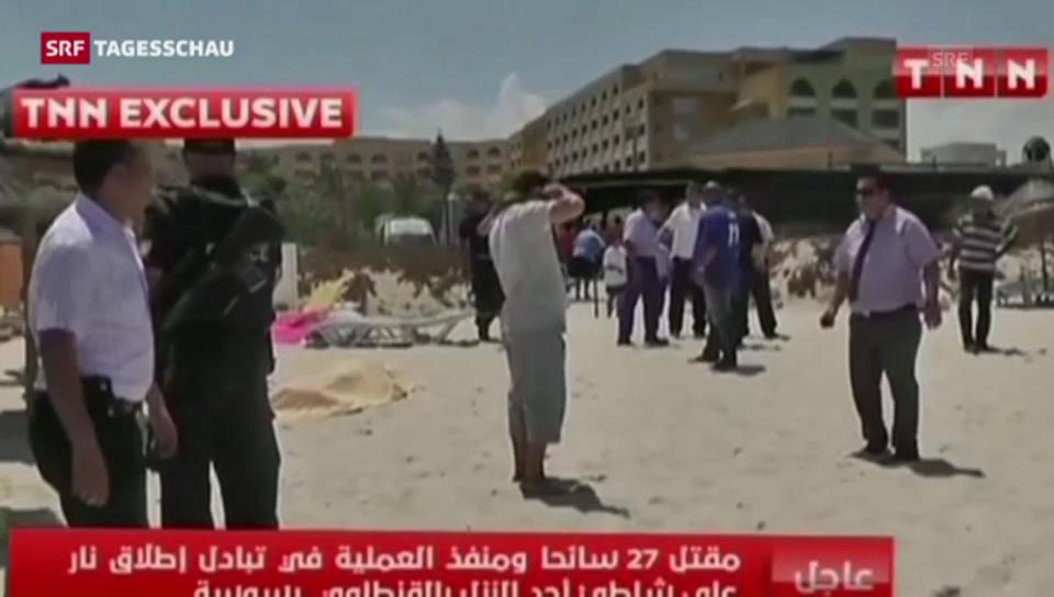 Anschlag in Sousse und Reaktionen (Tagesschau 19.30 Uhr)