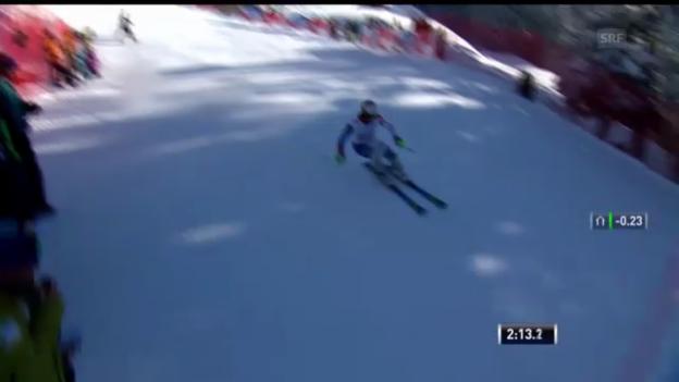 Video «Ski alpin: Der Superkombi-Slalomlauf von Sandro Viletta («sportlive»)» abspielen