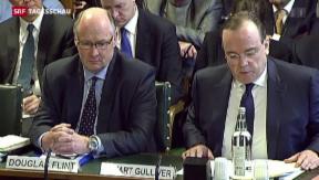 Video «HSBC-Führung muss vor britischer Parlamentskommission antraben» abspielen