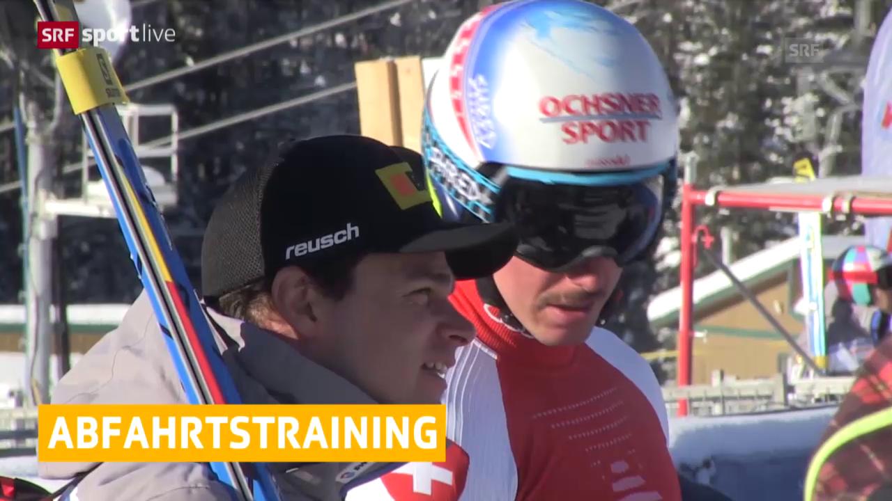 Ski Alpin: Abfahrtstraining Lake Louise