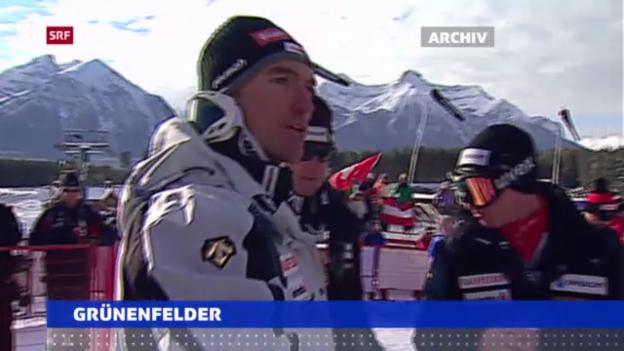 Video «Ski alpin: Rücktritt von Tobias Grünenfelder («sportaktuell»)» abspielen