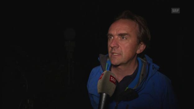 Video «Christian Gartmann, Sprecher von Bregaglia, zum Murgang» abspielen