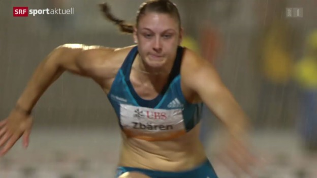 Video «LA: SM in Frauenfeld, 100 m Hürden der Frauen» abspielen