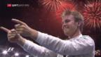 Video «Nächtlicher Doppelschlag von Jubilar Rosberg» abspielen