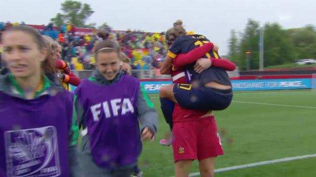 Video «Fussball: Frauen-WM, Achtelfinal, Zusammenfassung Brasilien - Australien» abspielen