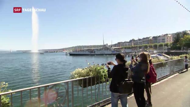 Video «Jet d'eau – Genfer Wahrzeichen seit 125 Jahren» abspielen