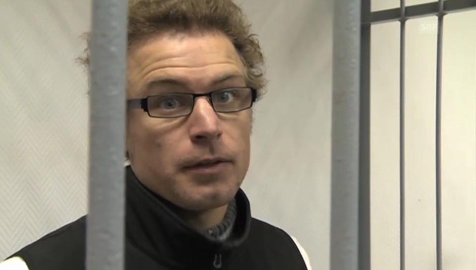Greenpeace-Aktivist Weber vor der Kamera