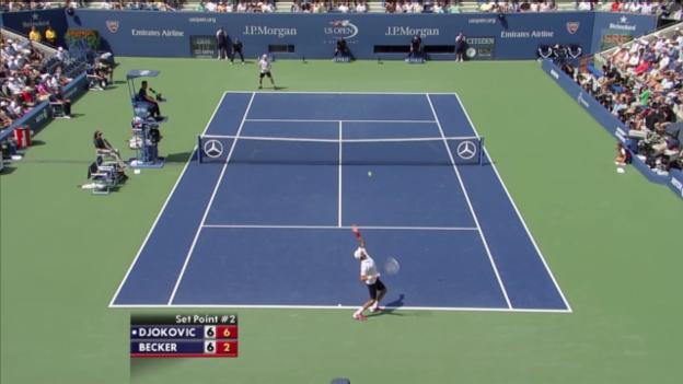 Video «Satz- und Matchbälle Djokovic - Becker (unkommentiert)» abspielen