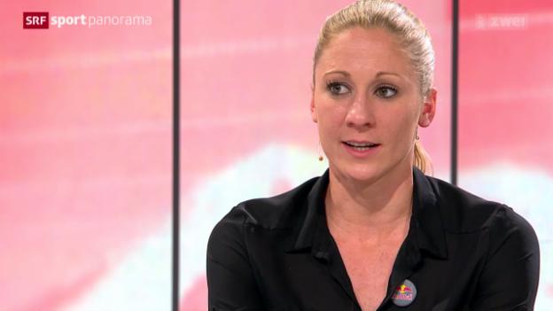 Video «Triathlon: Daniela Ryf zu Gast im «sportpanorama»» abspielen