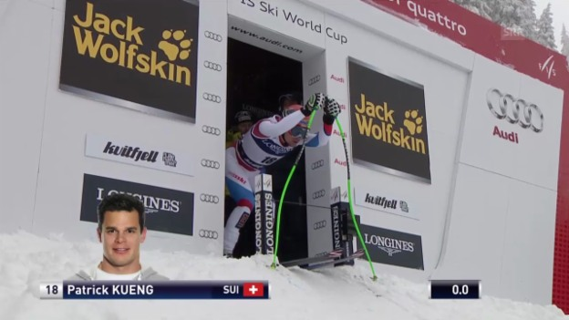 Video «Ski Alpin: Abfahrt Kvitfjell, Fahrt von Küng («sportlive», 01.03.2014)» abspielen