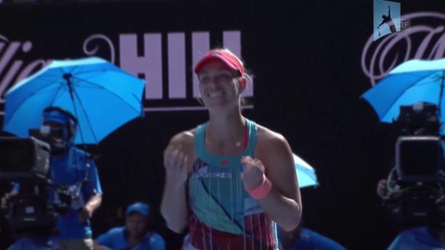Video «Angelique Kerber zieht in den Final ein» abspielen