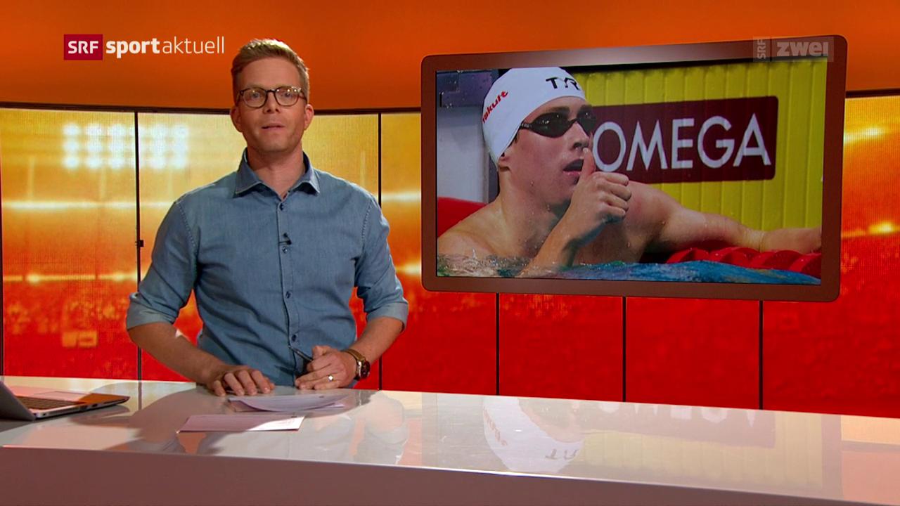 Yannick Käser schwimmt Schweizer Rekord