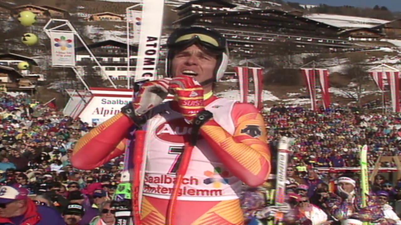 Ski alpin: Franz Heinzer wird 1991 Weltmeister
