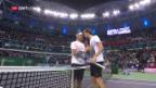 Video «Federer von Medwedew stark gefordert» abspielen