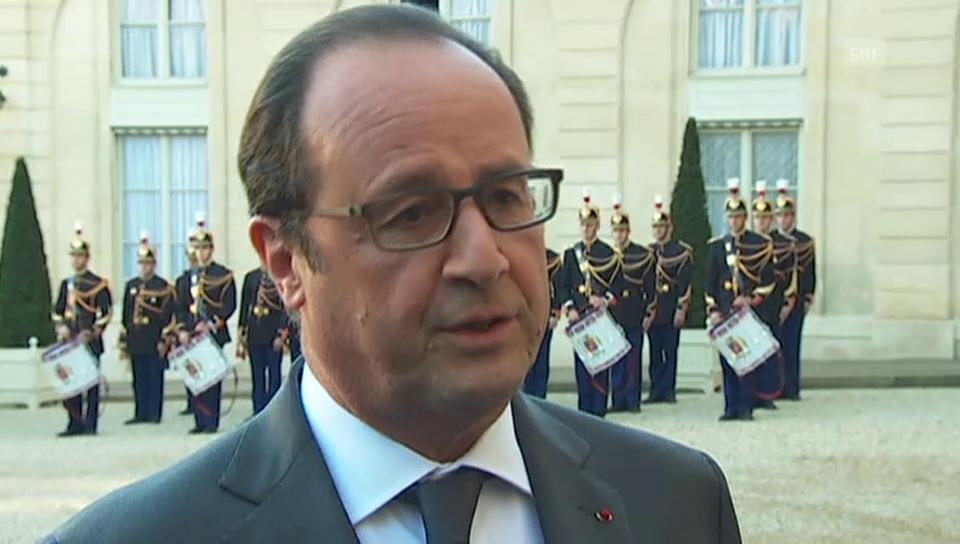Hollande zum Tode von Schmidt (französisch)