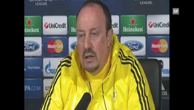 Medienkonferenz Chelsea mit Statements von Rafael Benitez und Juan Mata (englisch)