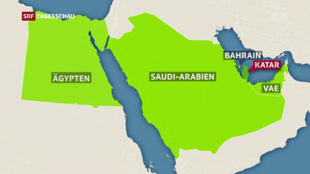 Video «Katar denkt nicht daran, einzulenken» abspielen