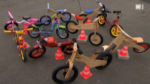 Video «Laufräder: Nicht immer eine runde Sache» abspielen