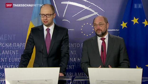 Video «EU bespricht Vorgehen in der Ukraine» abspielen