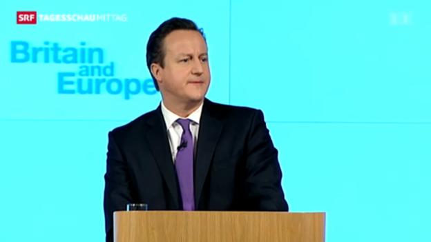 Video «Briten sollen über EU-Austritt abstimmen» abspielen