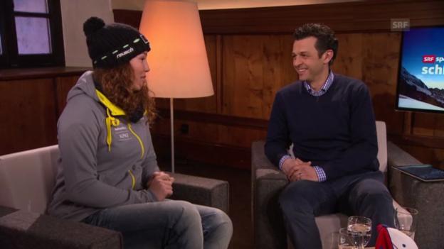 Video «Gino Caviezel und Michelle Gisin im Gespräch, Teil 3» abspielen