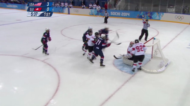 Video «Sotschi: Eishockey Frauen, Schweiz - USA» abspielen