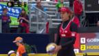 Video «Beachvolleyball: Grand Slam Gstaad, K.o.-Phase» abspielen