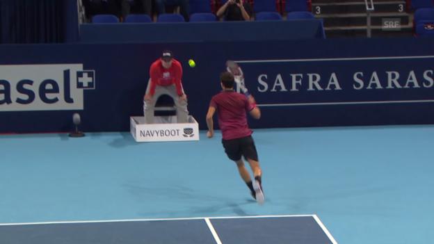 Video «Tennis: Swiss Indoors, Dimitrov zaubert» abspielen