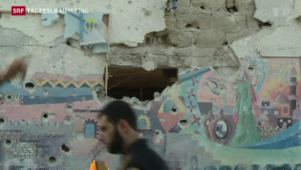 Schule in Gaza bombardiert