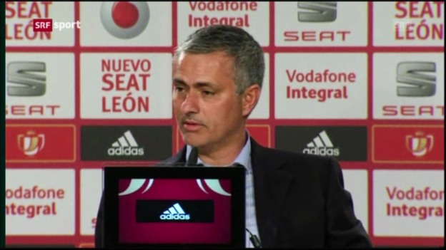 Video «Fussball: Mourinho nach Real-Cupniederlage» abspielen