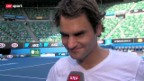 Video «Australian Open: Federer im Training» abspielen