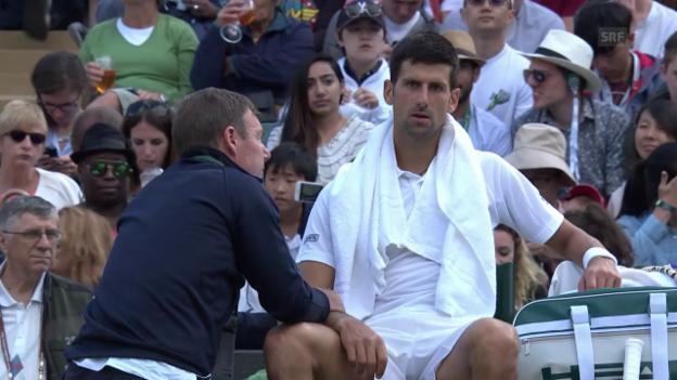 Video «Djokovic muss aufgeben» abspielen