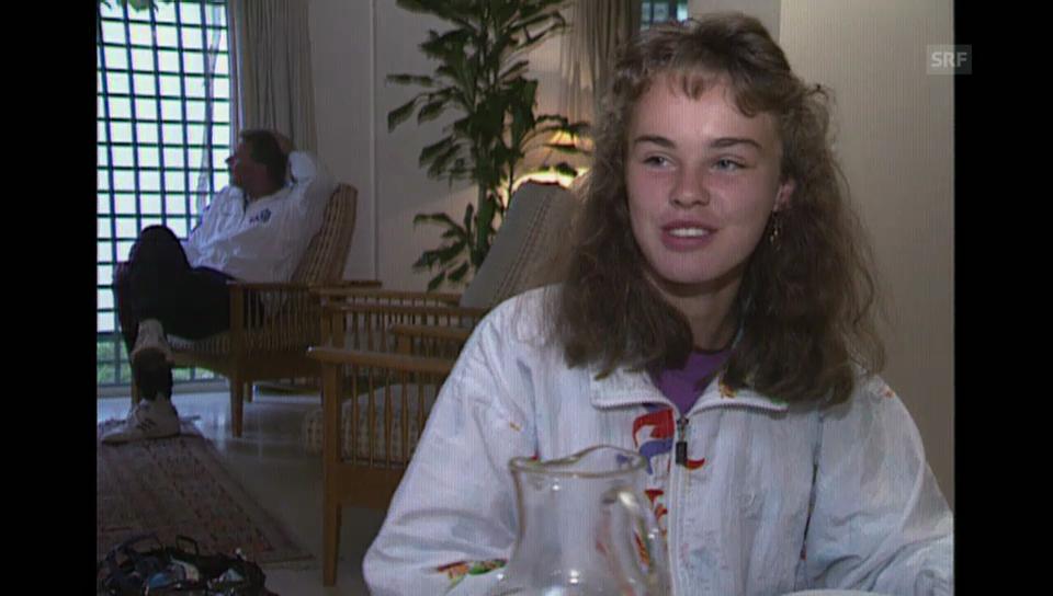 Mit Martina Hingis am French-Open-Final der Danen Juniorinnen («Time Out» vom 7.6.1993)